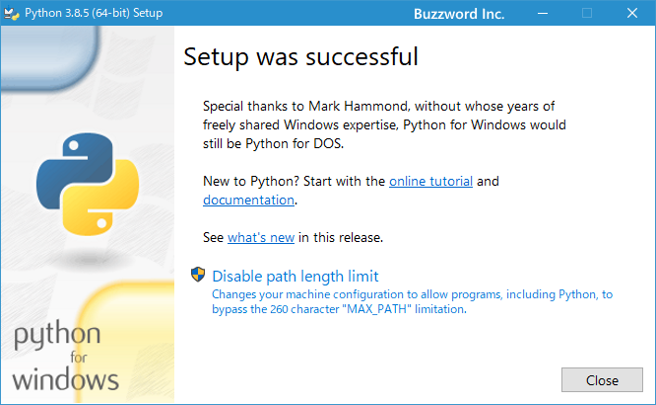 Pythonをインストールする(5)